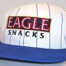 Eagle Snacks Cakes Vintage White Blue Pinstriped Baseball Snapback Hat