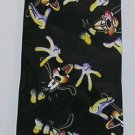 GOOFY Disney Mickey Unlimited Brand Necktie Black Polyester Tie Gently Used