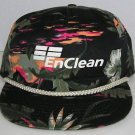 EnClean Waste & Environ Services Vintage Bright Floral Snapback Baseball Cap Hat
