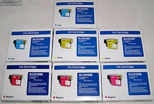 Ink Cartridges For Brothers B-LC61/65M B-LC61/65C B-LC61/65Y Lot of 8 Sealed New