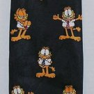 Garfield Cartoon Business Paws Addiction Brand Necktie Navy Blue Gently Used