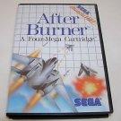 After Burner (Sega Master 1988) Arcade Hit Complete Instructions Original Poster