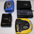 Sony Walkman GPX Sony Sports Discman Etc. Lot of 5 Players For Parts Not Working