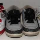 Nike Air Jordan 4 IV Fire Red 5 V Olympics 3 III Wolf Grey Lot of 3 Pair Size 3Y
