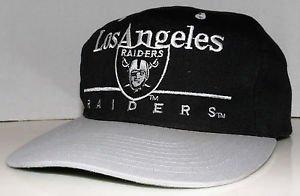 Los Angeles Raiders Vintage 80/90's Eastport Black Silver Snapback NFL Football