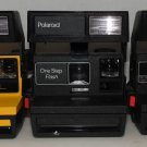 Polaroid One Step Yellow Job Pro Lot of 3 600 Film Instant Film Camera Polaroids