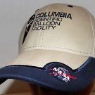 NASA Columbia Scientific Balloon Facility Khaki Blue Trim Velcroback Hat Cap
