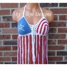 Classic Crochet American Flag Fringe Top by Vikni Crochet Designs