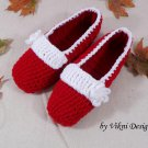 Christmas Gift Crochet Slippers, Women's Indoor House Shoes by Vikni