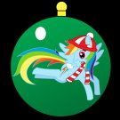 Rainbow Dash Christmas Ornament