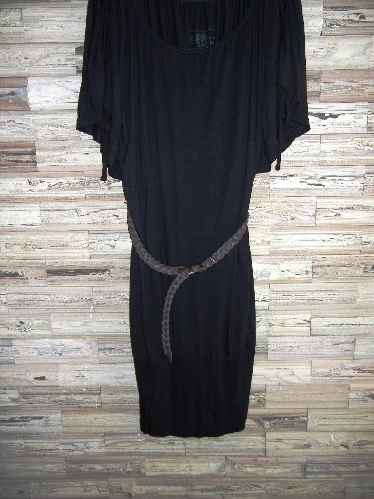 Woman Woven braided belt - width 0.8inch Dark Brown