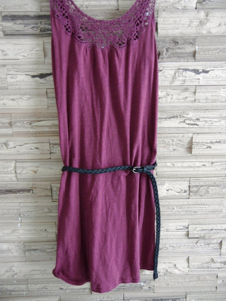 Woman Woven braided belt - width 0.4inch Black