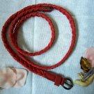 Woven braided belt - width 0.4inch Red