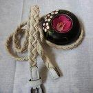 Woven braided belt - width 0.4inch white