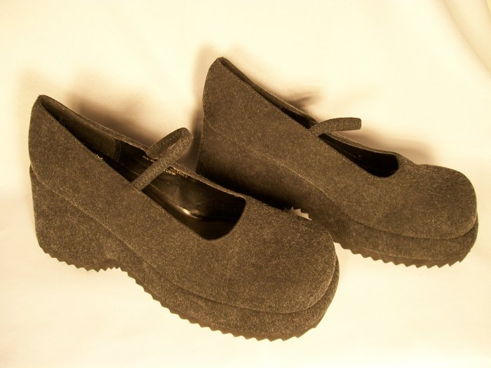 goth mary jane platforms grey size 8