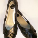 kitten wedges open toe black size 8