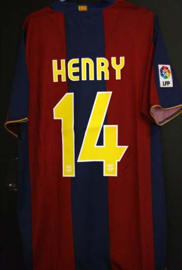 NEW 2007/2008 Barcelona Thierry Henry Jersey