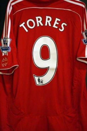 NEW Liverpool 2007/2008 Torres Jersey