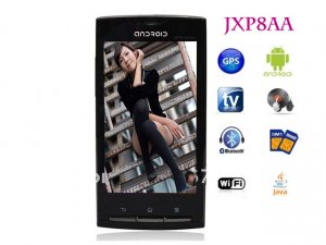 "JXP8AA mobile phone android 2.2 3.6"" touch screen GPS WIFI TV function quad band unlocked"