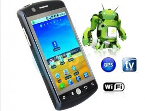 Android Phone JXP3H0A 3.5 inch capactive touch screen WIFI+TV+GPS quad band unlocked
