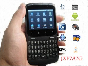 Cheap android 2.2 wifi tv mobile phone JXP7A7G quad band unlocked smartphone