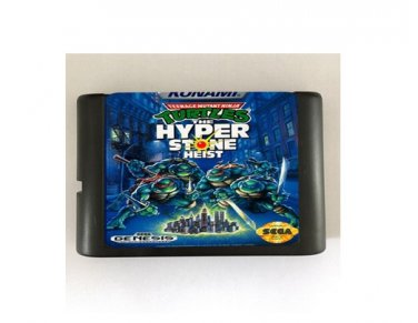 TMNT Hyper Stone Heist 16-Bit Sega Genesis Mega Drive Game Reproduction (Tested & Working)