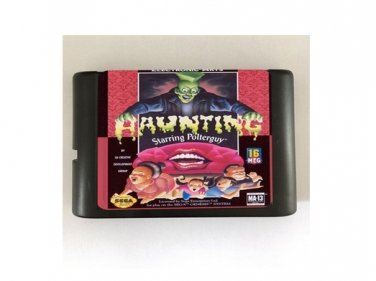 Haunting Starring Polterguy 16-Bit Sega Genesis Mega Drive Game Reproduction (Tested & Working)