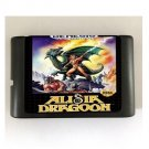 Alisia Dragoon 16-Bit Sega Genesis Mega Drive Game Reproduction (Tested & Working)