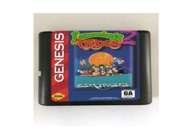 Lemmings 2 The Tribes 16-Bit Sega Genesis Mega Drive Game Reproduction (Tested & Working)