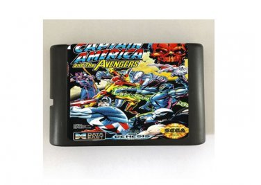 Captain America and The Avengers 16-Bit Sega Genesis Mega Drive Game Reproduction (Tested & Working)