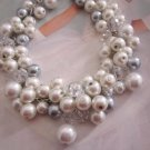 Cluster Pearl Beaded Necklace