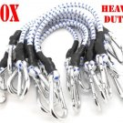 "10PC 18"" Heavy Duty Bungee Cords 18 inch CAL-HAWK BRAND Thick Tie Downs w/ Hooks"