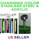 Outdoor Garden Stainless Steel Acrylic Changing Solar Landscape Yard Lights