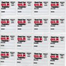 28 GENERIC STATIC CLING OIL CHANGE STICKER DECALS