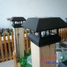 12 Black New Outdoor Garden Solar Panel Post Deck Cap Light