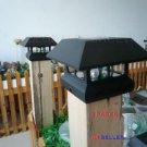 2 Black New Outdoor Garden Solar Panel Post Deck Cap Light