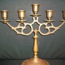 SOLID BRASS 5ARM LIGHT CANDELABRA CANDLE STICK HOLDER