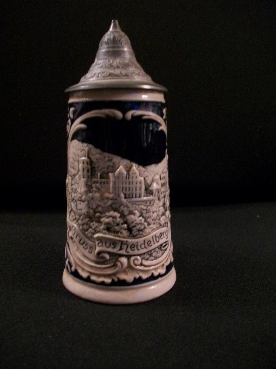 Antique German Stein Miniature Gruss aus heidelberg