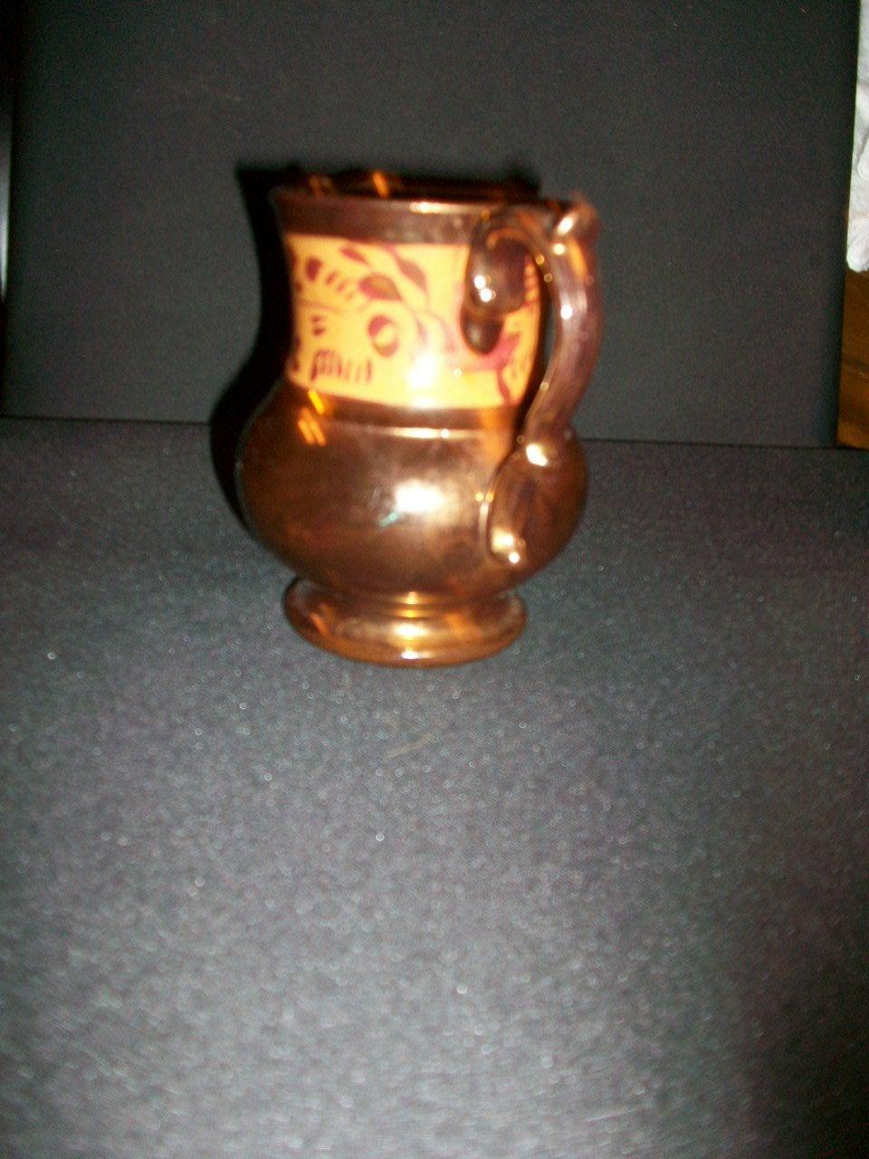 Antique Copper Luster Pitchers