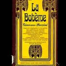 LA BOHEME by Giacomo Puccini, Translated and Introduced by Ellen H. Bleiler /1st