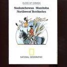 MAP: SASKATCHEWAN-MANITOBA-NORTHWEST TERRITORIES /National Geographic /HUGE/WALL