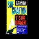 """""""J"""" IS FOR JUDGMENT by Sue Grafton /A KINSEY MILLHONE MYSTERY /WOMAN SLEUTH /1st"""