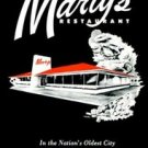 COLLECTIBLE POSTCARD: MARTY'S RESTAURANT, ST. AUGUSTINE, FLORIDA /OLDEST CITY
