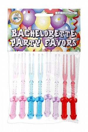 Bachelorette Party Cocktail Picks - 8pc.