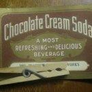 Chocolate Cream Soda Label