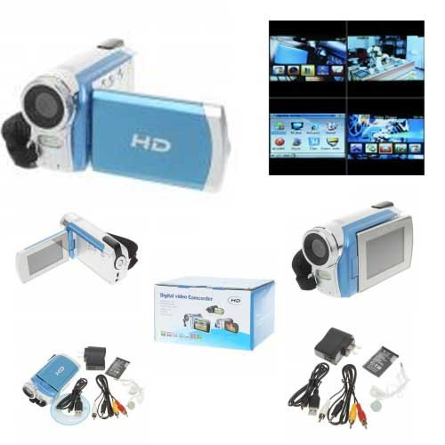 "8.0MP CMOS Digital Camera Camcorder Video/MP3 Player w/ AV/SD/Mini USB (2.7"" LCD/2GB)"