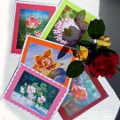 Cards Notecard Greating Cards - Set of 5