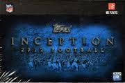 2012 Topps Inception Football Card Package