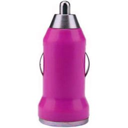 USB Car Charger Android, Cell phone, iPhone, MP3 - Pink