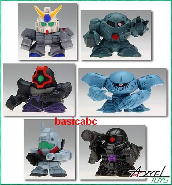 Gashapon SD Gundam Part 18 NT-1 Dom GM Zaku Zook 6 pcs